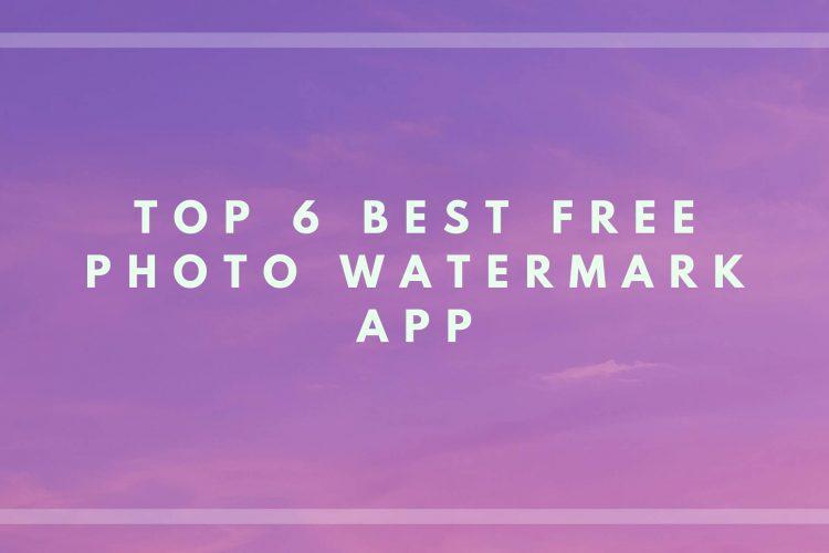 photo watermark app